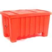 "Myton Forkliftable Bulk Shipping Container MTW-2 with Lid - 43""L x 26-1/2""W x 24""H, Red"