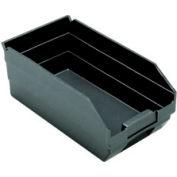 """Recycled Shelf Bin QSB102BR Nestable, 6-5/8""""W x 11-5/8""""D x 4""""H - Pkg Qty 30"""