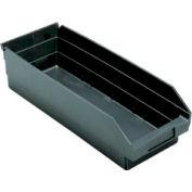 """Recycled Shelf Bin QSB114BR Nestable, 8-3/8""""W x 23-5/8""""D x 4""""H - Pkg Qty 6"""