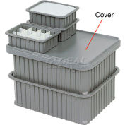 "Dandux Snap-On Cover 50P0114NN for Dividable Grid Stackable Box, 22""L x 17""W, Gray"