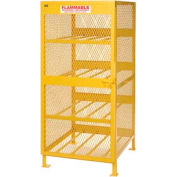 "Jamco Cylinder Storage Cabinet CH080 - Horizontal Single Door 8 Cylinders - 33""W x 40""D x 71""H"