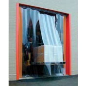 Standard Grade Smooth Clear Strip Door Curtain 9'W x 9'H