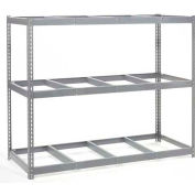 Global Industrial™ Wide Span Rack 96Wx24Dx84H W/ 3 Shelves No Deck 1100 Lb Capacity Per Level