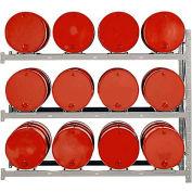 Modern Equipment MECO DPR12A 3 Tier Drum Pallet Rack Add-On Unit