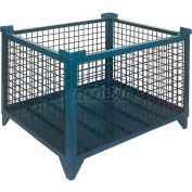 "Topper Stackable Steel Container 61006 Wire Mesh, 35""L x 35""W x 24""H, Unpainted"