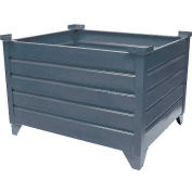 """Global Industrial™ Stackable Steel Container, 48""""Lx42""""Wx24""""H, Unpainted"""