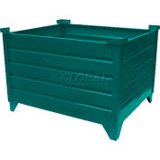 """Global Industrial™ Stackable Steel Container, 42""""Lx30""""Wx18""""H, Green"""