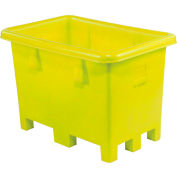 """Dandux Pallet Container 51-2026Y - 43""""L x 28""""W x 29""""H Single Wall, Yellow"""