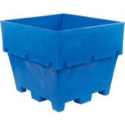 "Dandux Pallet Container 51-2040-U - 48""L x 44""W x 40""H Double Wall, Blue"