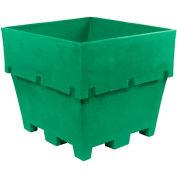 "Dandux Pallet Container 512037E - 45""L x 45""W x 39""H Single Wall, Green"