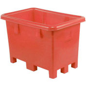 """Dandux Pallet Container 51-2037R - 45""""L x 45""""W x 39""""H Single Wall, Red"""