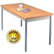 "Allied Plastics Utility Table - 36""W X 72""L - Oak"