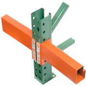 "Husky Rack & Wire Pallet Rack Tear Drop Beam 120""L, 4062 Cap Per/Pr (2 pcs)"