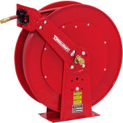 """Reelcraft 82100 OLP 1/2"""" x 100' Spring Retractable Hose Reel Dual Pedestal All Steel With Hose"""