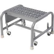 "Grip 16""W 1 Step Steel Rolling Ladder 20""D Top Step"