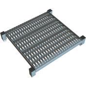 """24 X 24 Inch Adjustable Height Steel Work Platform - 9""""H To 14""""H"""