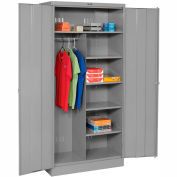Tennsco Combination Metal Storage Cabinet 1472-MGY - 36x18x72 Medium Grey