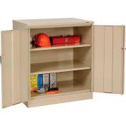 Tennsco Counter Height Industrial Storage Cabinet 2442 214 - 36x24x42 Sand
