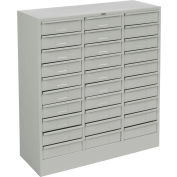 "Tennsco Drawer Cabinet 3085 053 - 30 Drawer  Legal Size, 30-5/8""W X 14-5/8""D X 33-7/16""H, Light Grey"