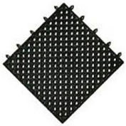 "NoTrax® Modular Lok-Tyle™ Drainage Mat Interlocking Tile, 12"" X 12"", Black"