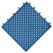 "NoTrax® Modular Lok-Tyle™ Drainage Mat Interlocking Tile 12"" x 12"" Blue"