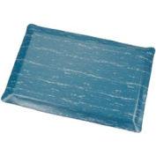 Marbleized Top Ergonomic Mat 2 Foot Wide Cut Blue