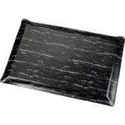 Marbleized Top Ergonomic Mat 3 Foot Wide Cut Black