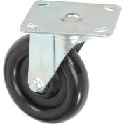 "Medium Duty Rigid Plate Caster 5"" Polyurethane Wheel 250 lb. Capacity"
