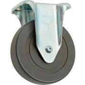 """Medium Duty Rigid Plate Caster 5"""" Hard Rubber Wheel 290 Lb. Capacity"""