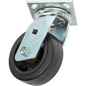"""Faultless Swivel Plate Caster 1418-5 5"""" Mold-On Rubber Wheel"""