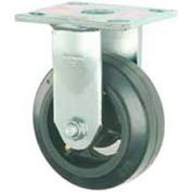 """Faultless Rigid Plate Caster 3418-6 6"""" Mold-On Rubber Wheel"""