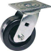 "Faultless Swivel Plate Caster 1461-6 6"" Polyolefin Wheel"