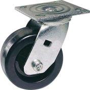 "Faultless Swivel Plate Caster 1461-6 6"" Polyolefin Wheel"