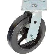 """Faultless Swivel Plate Caster 1418-8 8"""" Mold-On Rubber Wheel"""