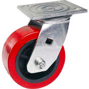 "Faultless Swivel Plate Caster 1498-6 6"" Polyurethane Wheel"