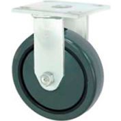 "Faultless Rigid Plate Caster 3498-8 8"" Polyurethane Wheel"