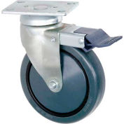 "Faultless Total Lock Swivel Plate Caster 899-5TB 5"" Polyurethane Wheel"