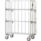 Best Value Folding Truck with Slatted Tilting Shelves 2000 Lb. Capacity