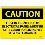 "Safety Signs - Caution Area - Rigid Plastic 10""H X 14""W"