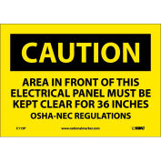 """Safety Signs - Caution Area - Vinyl 7""""H X 10""""W"""