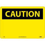 "Safety Signs - Caution Blank - Rigid Plastic 10""H X 14""W"