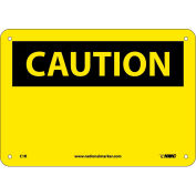 "Safety Signs - Caution Blank - Rigid Plastic 7""H X 10""W"