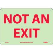 Glo-Brite Not An Exit Sign - Rigid Plastic