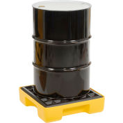 Eagle 1633 1 Drum Spill Containment Platform - Yellow with No Drain