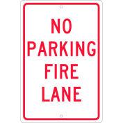 """Aluminum Sign - No Parking Fire Lane - .063"""" Thick, TM3H"""