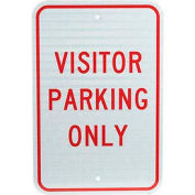 "Aluminum Sign - Visitor Parking Only - .08"" Thick, TM7J"