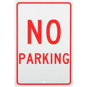 "Aluminum Sign - No Parking - .063"" Thick, TM1H"