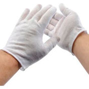 PIP 97-501 Light Weight Inspection Gloves, Unhemmed, Cotton, Ladies, 1-Dozen