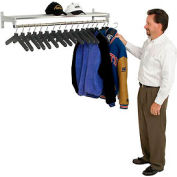 Garment Wall Rack Includes 18 Hangers