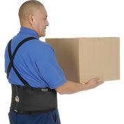 Ergodyne® ProFlex® 100 Economy Back Support W/Rubber Track Webbing, Medium, Black